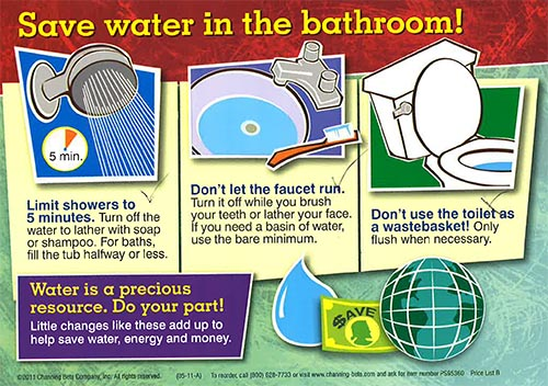 Save Water in the Bathroom