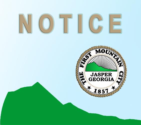 Jasper Georgia Notice